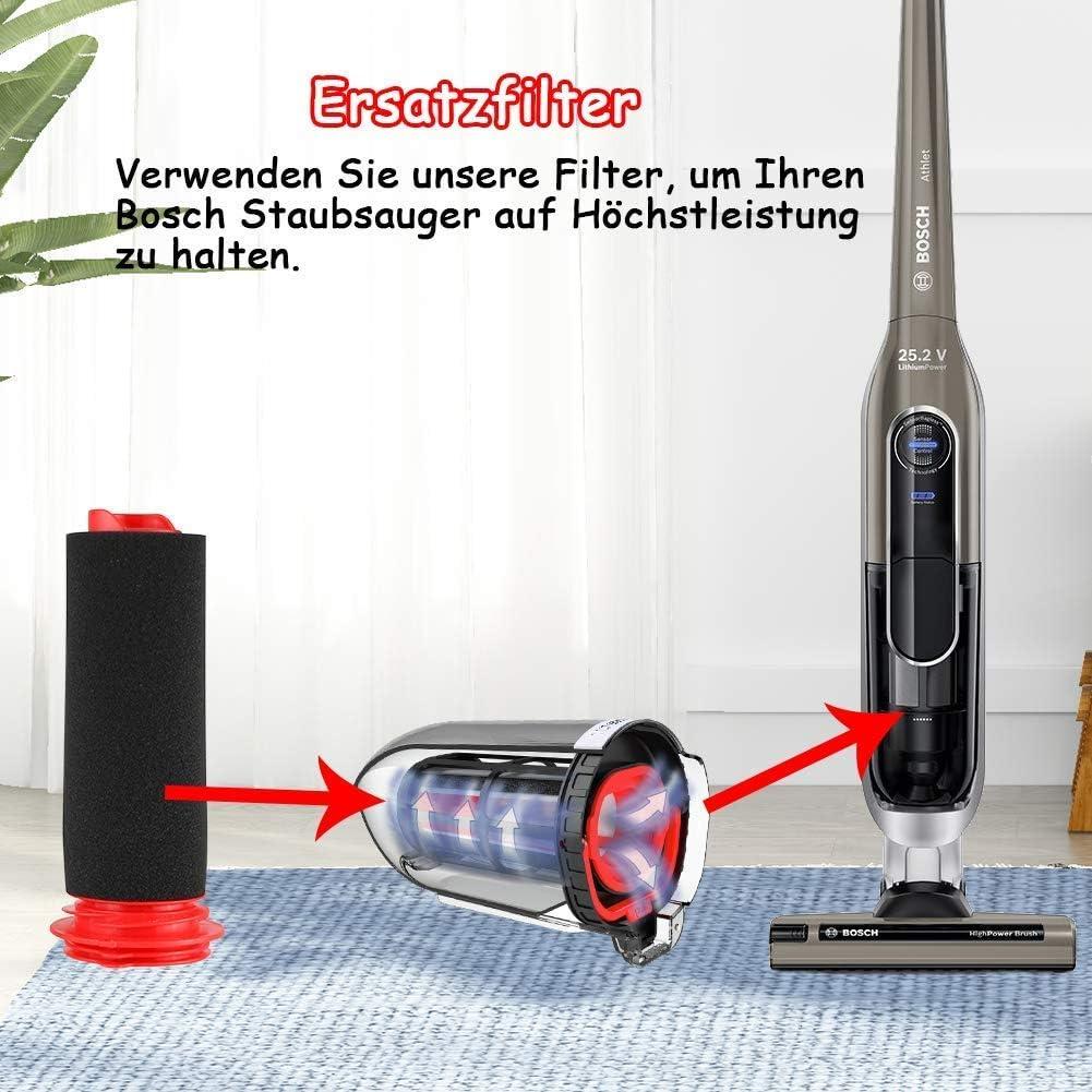 Leadaybetter - 3 filtros lavables para aspiradora Bosch BCH6L2560 BCH6L2561 / Bosch BCH6ZOOO Zooo ProAnimal: Amazon.es: Hogar