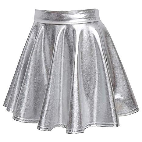 Kingko - Falda para Mujer, diseño de Campanas pequeñas, Cintura ...