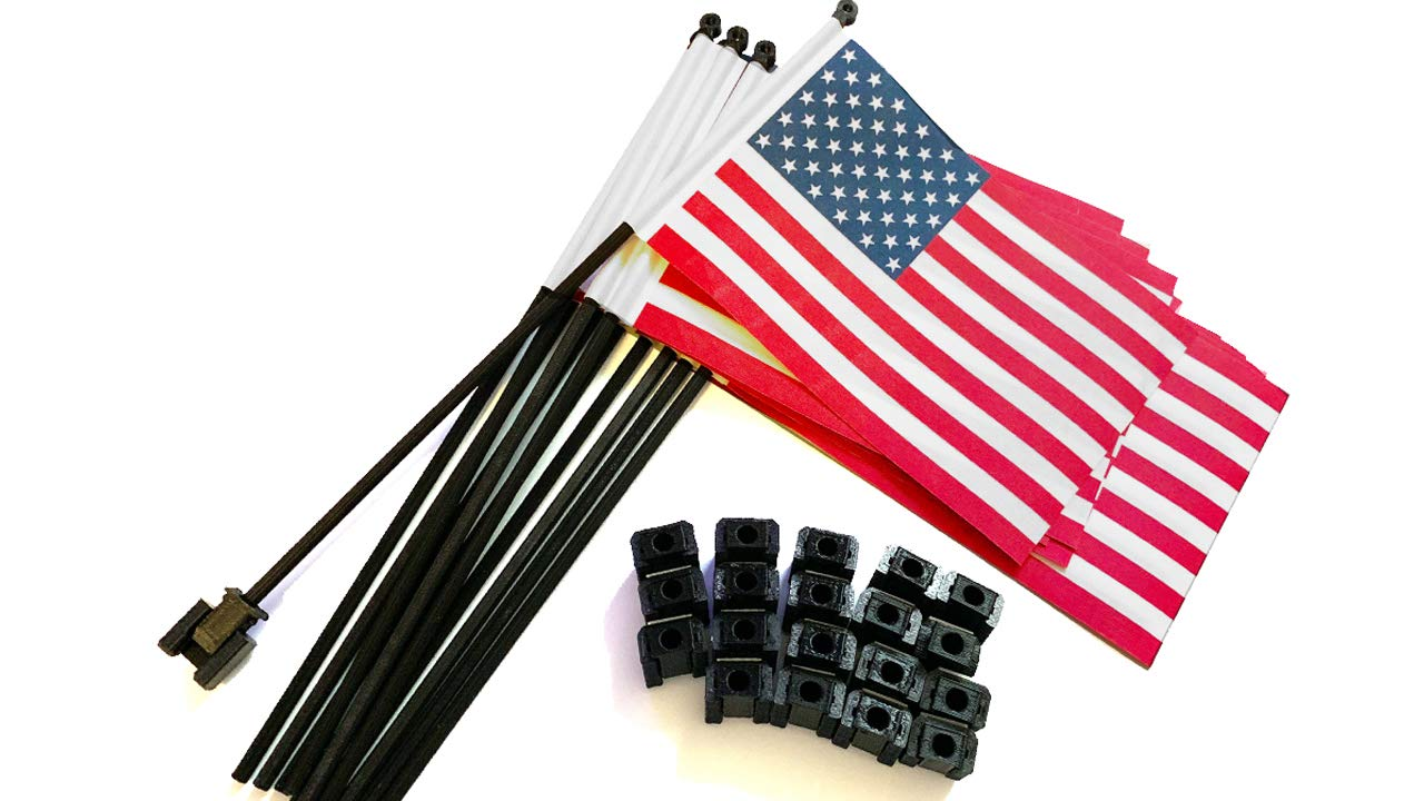 20 Pack USA Desk Flags with Flag Up Flag Down Flip Clips Pomodoro Status Alert Office by Deskflag
