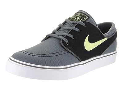 meet 25a27 b7afc Nike Men s Zoom Stefan Janoski CNVS Dark Grey Barely Volt Black Skate Shoe  7.