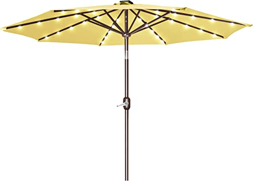 Strong Camel 9'New 40 LED Lights Patio Umbrella Garden Outdoor Sunshade Market