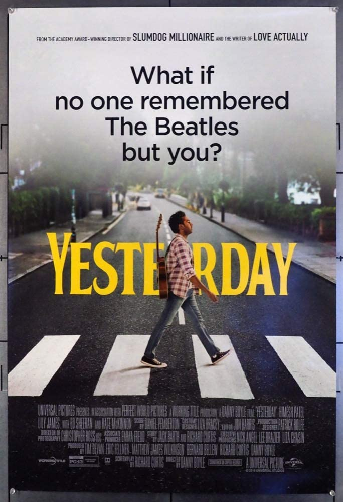 Yesterday 2019 Original Tulip Entertainment One Sheet Movie Poster 27x40 Double Sided Very Fine Condition Hamesh Patel Lily James Kate Mckinnon At Amazon S Entertainment Collectibles Store