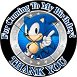 12 SONIC THE HEDGEHOG - Birthday Party Favor Stickers/Labels for Gift, Goody Treat Bag (2.5 inches circle stickers, bags not included)