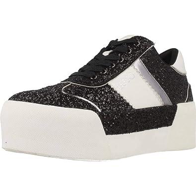 8e7fbf2e2df Liu Jo Chaussures Femme Baskets avec Plateforme B68013 TX007 Maxi 01 Lace  UP Taille 37 Black