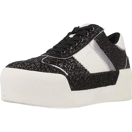 Liu Jo Scarpe Donna Sneakers con Piattaforma B68013 TX007 Maxi 01 Lace UP   Amazon.it  Scarpe e borse fea31a9d9f5