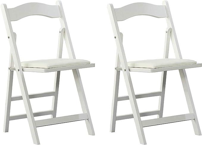 Arcalt Silla plegable de silla de comedor silla de madera para cocina (Blanco-2): Amazon.es: Hogar