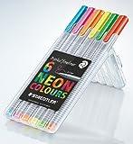 Staedtler Triplus Fineliner Neon - Rotulador de punta fina, paquete de 6, multicolores