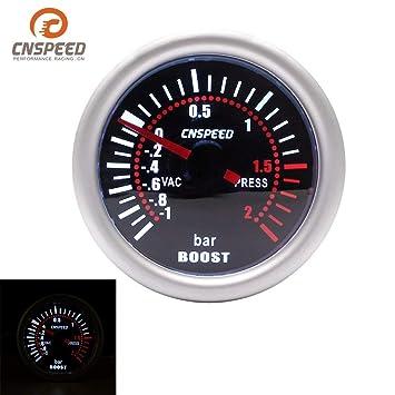 CNSPEED YC101310 Digital Universal 52mm Turbo Boost Vacío del coche -1~2 BAR manómetro