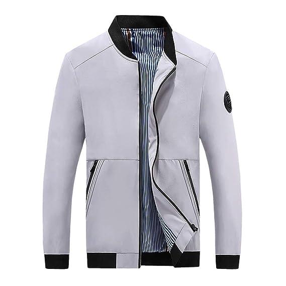 billig FRAUIT Herren Mode Zipper Übergangsjacke Einfarbig