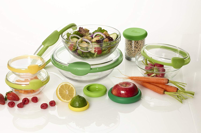 Farberware 5205247 Bowl Hugger Reusable Food Saver Bowl Cover Lids Seal 5 Pink