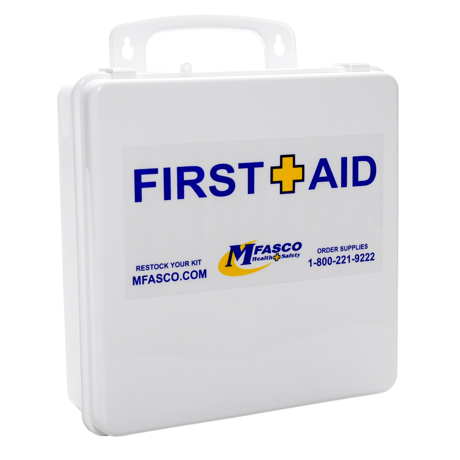 OSHA Class A Restaurant First Aid Kit With Blue Bandages Plastic Box by MFASCO