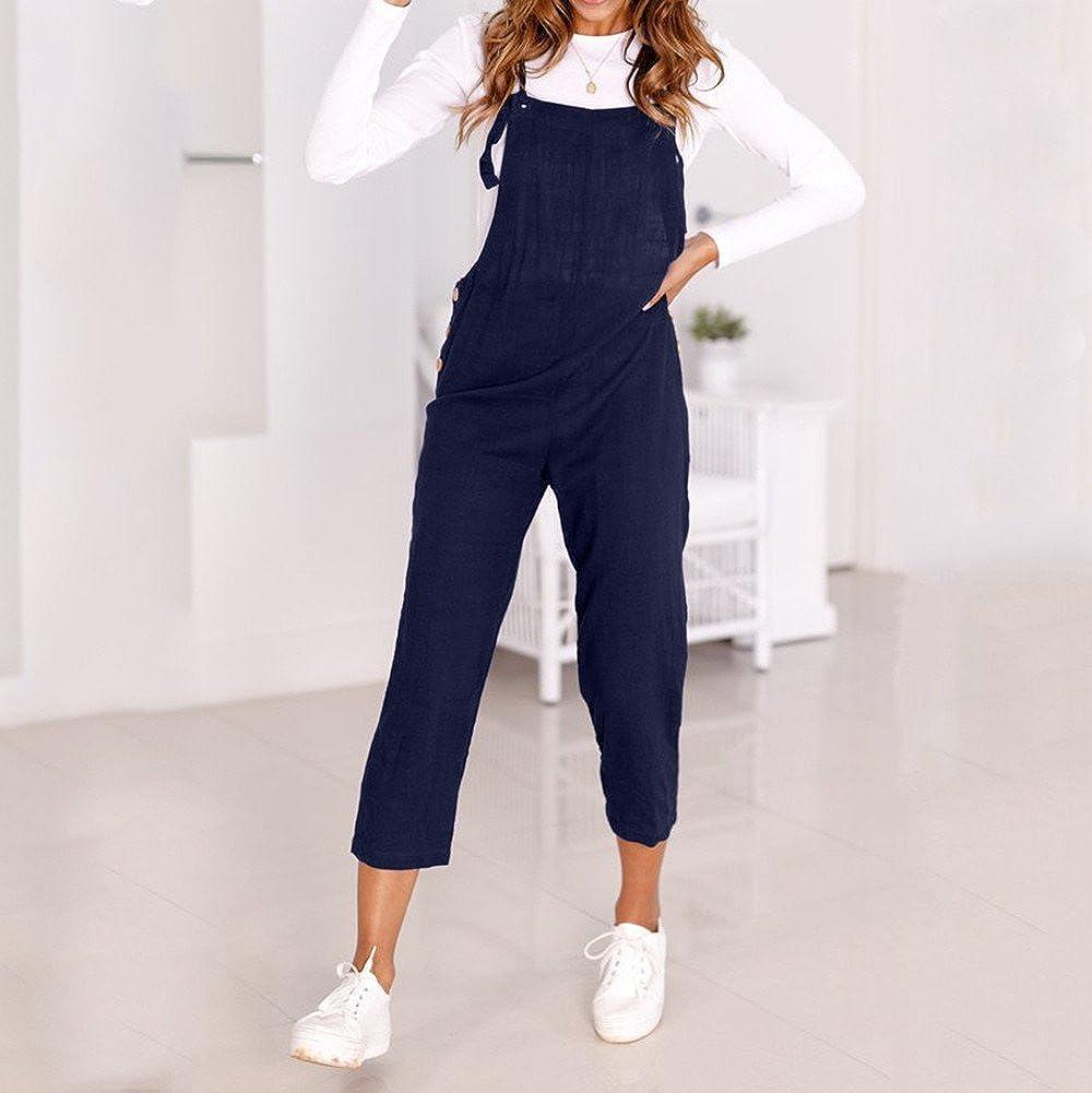 Kaister Damen Overall Jeans Spaghetti B/ügel Breite Beine Hosen Clubwear Strampler Hosen