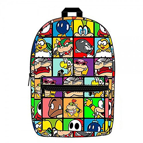 BIOWORLD Nintendo Super Mario Brothers Villains Sublimated Backpack