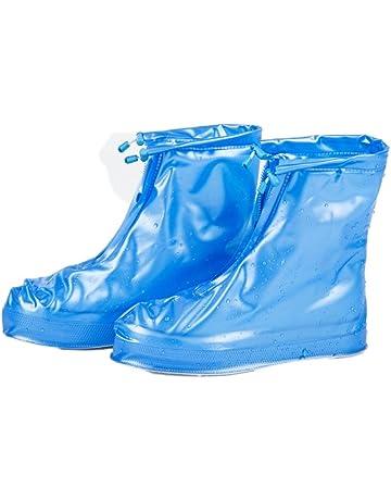 bf7171cd59 Elevin(TM) 2017 Men Women Galoshes Zipper Waterproof Rain Shoes Reusable  Overshoes Boots Slip