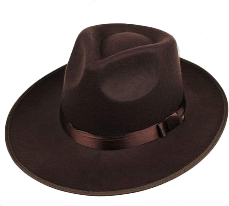 ArtiDeco Panama Sombrero Mafia Gangster de fieltro Fedora Trilby Bogart 1920 estilo Gatsby