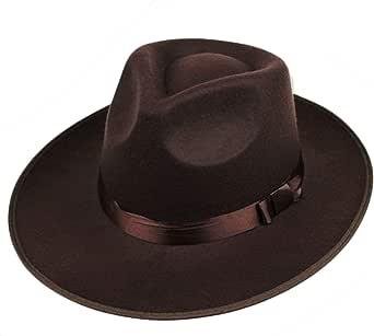 ArtiDeco Sombrero Panama Mafia Gangster para hombre, fieltro, Fedora Trilby Bogart, estilo 1920, accesorio para disfraz de Gatsby