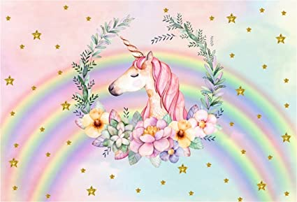 Amazon Com Csfoto 5x3ft Background Unicorn Birthday Party Decor Photography Backdrop Baby Shower Garland Rainbow Child Birthday Bash Gold Star Rainbow Celebration Kid Photo Studio Props Polyester Wallpaper Camera Photo