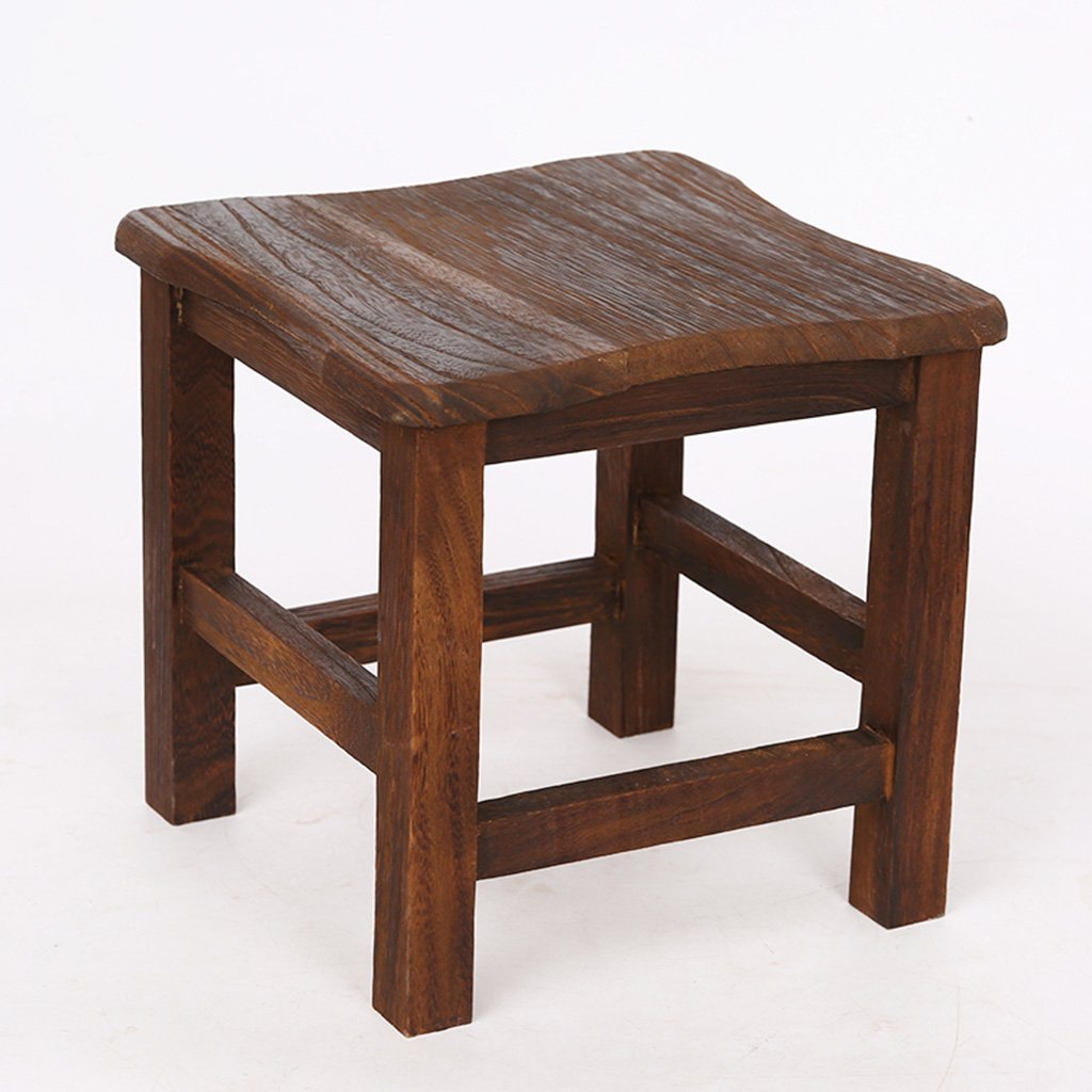 Amazon com gaoyang home stool fashion solid wood creative bench small square stool short shoe bench living room simple modern wood coffee table stool
