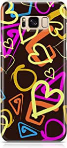 Samsung S8 Case Love Pattern Gift For Girls Durable Metal Inforced Light Weight Samsung S8 Cover Wrap Around 130