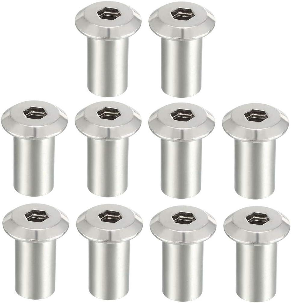 Remaches hexagonales con cabeza hexagonal para tornillos y tuercas de hierro niquelados Sourcingmap