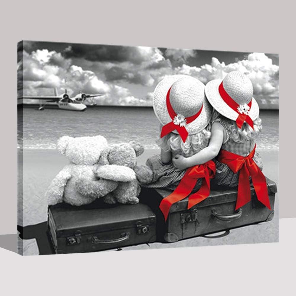 Decorativo para el hogar Imagen de Arte de Pared Modular Niño y Juguetes Oso DIY Pintura por números Kits Pintura para Colorear (Sin Marco) 40x50CM: Amazon.es: Hogar