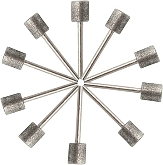 Mounted point dremel points 1//4 x 1//2 x 1//4 lot of 10 machine shop grinding new