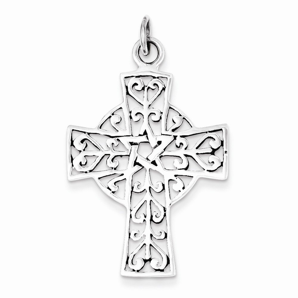 Best Quality Free Gift Box Sterling Silver Antiqued Cross Pendant