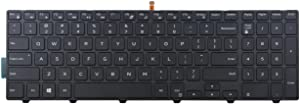New Laptop Backlit Keyboard Replacement for Dell Inspiron 17 5000 Series 17 5755 17 5758 5759 7557 US Layout Black