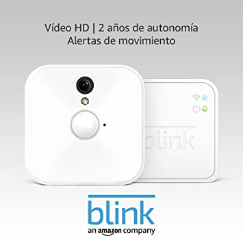 Blink Sistema de cámaras de seguridad para interiores con detección de movimiento, vídeo HD,