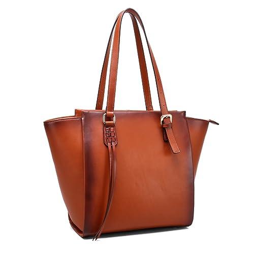 bea3c3c970 Amazon.com  SISSHRRY Women Designer Handbags Laptop Bags Satchel Shoulder Bag  Leather Top Handle Bags for Ladies (M