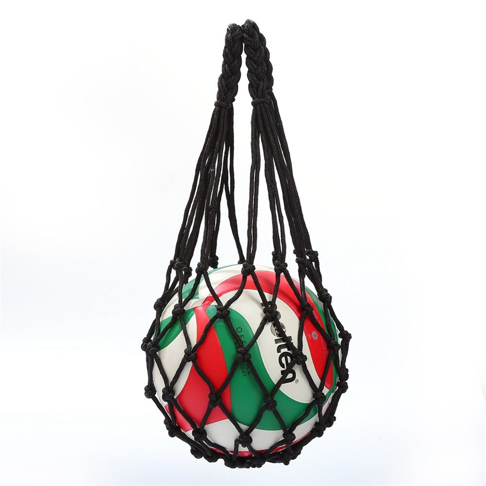 ShiningLove Ball Mesh Net Bag Single Ball Carrying Container for Carrying Volleyball Basketball Football