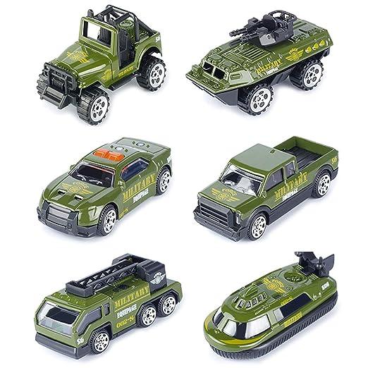 T.H. Vehículos Militares Conjunto Mini Coches Escala 1:64 Juego Juguetes de Colección (Pack de 6): Amazon.es: Juguetes y juegos