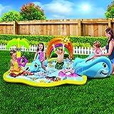 Kid's Summer Fun Backyard Play Toddler Banzai Baby Sprinkles Splish Splash Water Park Sprinkling Activity Center offers
