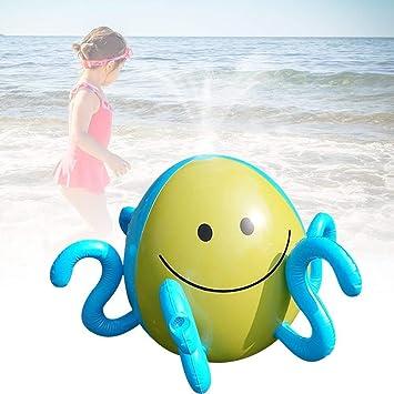 Yangmg Splash and Spray Pelota, Octopus Inflatable Sprinkler Water ...