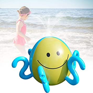 Yangmg Splash and Spray Pelota, Octopus Inflatable Sprinkler ...