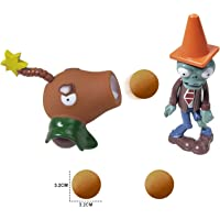 Action Figures for 3 Year Up Kids Pop Mobile Game Characters Plants vs Zombies Shooting Game Toy Set with Coconut Cannon…