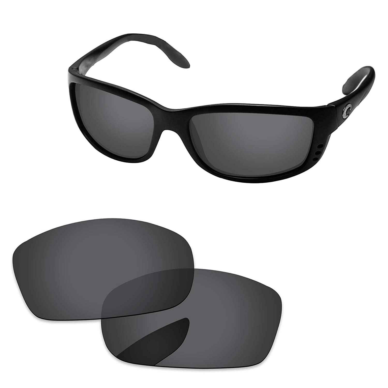 17ae6bb192c2f Amazon.com  PapaViva Lenses Replacement for Costa Del Mar Zane Black Grey -  Polarized  Clothing