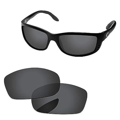 f88abfb602822 PapaViva Lenses Replacement for Costa Del Mar Zane Black Grey - Polarized