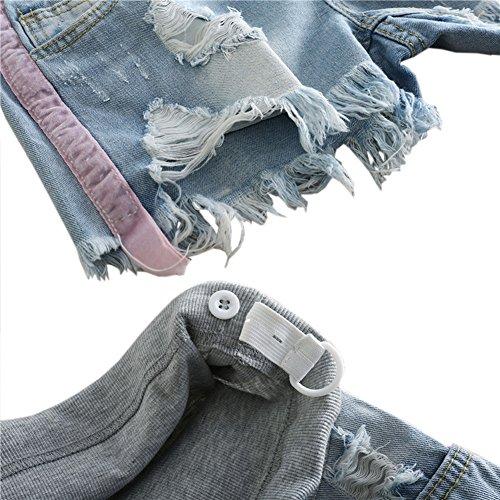 lastique Femme ventre Doux de Jeans Style6 Mode Maternit Hzjundasi Shorts Denim soutien OwR0p5q