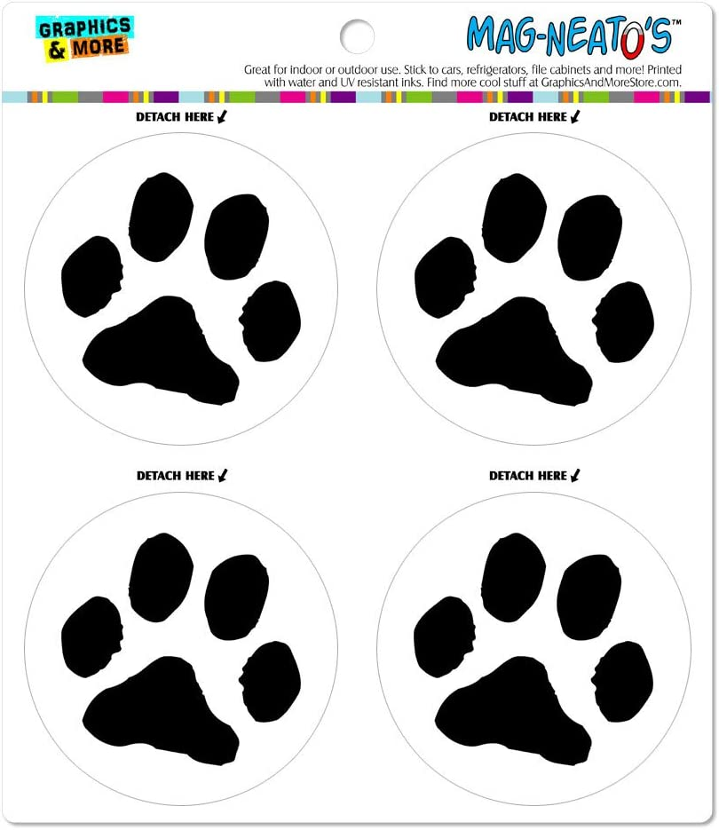 Paw Print Pet Dog Cat Automotive Car Refrigerator Locker Vinyl Magnet Set