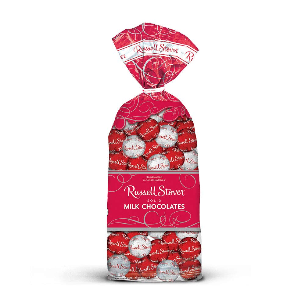 CDM product Russell Stover Solid Milk Chocolate Balls, 9 Ounce, 12 Count big image