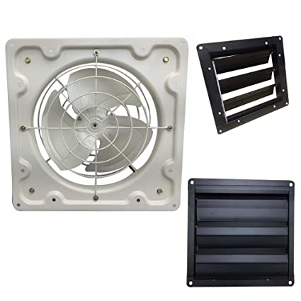 New Heavy Duty Industrial Commercial Axial Extractor Ventilation Shutter &  Fan Ventilator Exhaust Shutter 10 12 16 & 18 Inches (12 inches Fan &