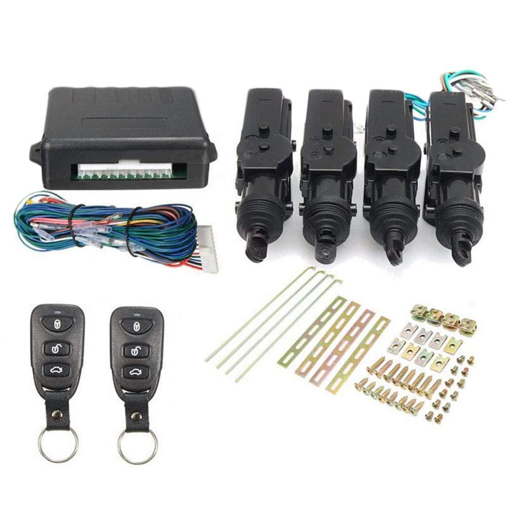 rungao 4 tü r Fernbedienung Auto Zentralverriegelung Verriegelung Keyless Entry System Kit Universal