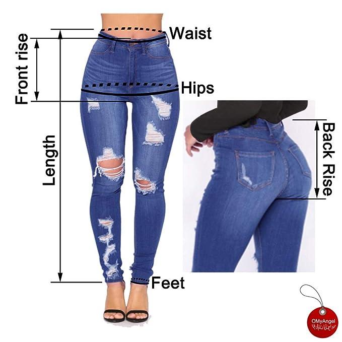 Amazon.com: OMyAngel - Pantalones vaqueros para mujer: Clothing