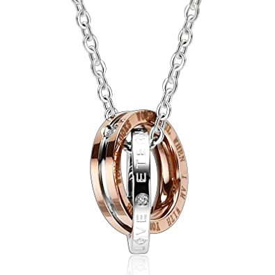 Rosegold Damen Halskette Blatt Anhänger Gold Schwarz Silber Mit Kette