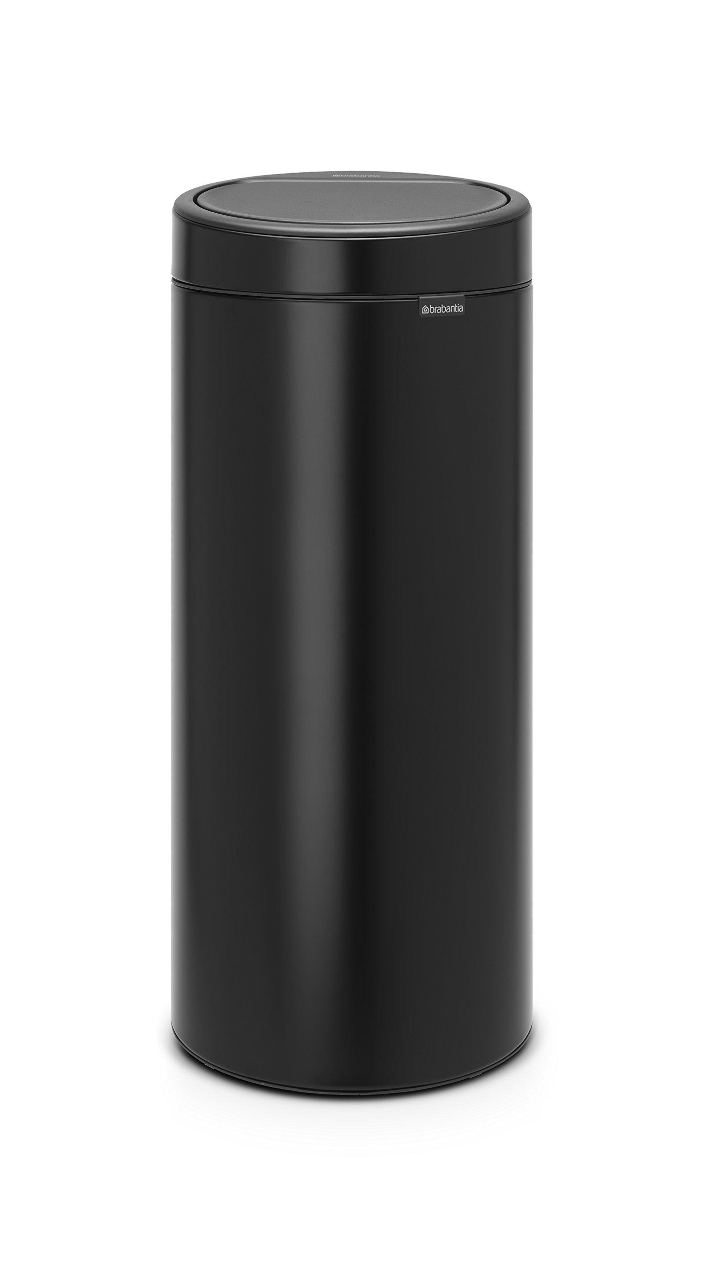 Brabantia 115301 Touch Trash Can New, 8 gallon, Matt Black by Brabantia