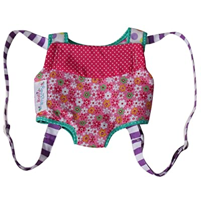 Large Patchwork Front Carrier for Dolls or Stuffed Animals: Toys & Games