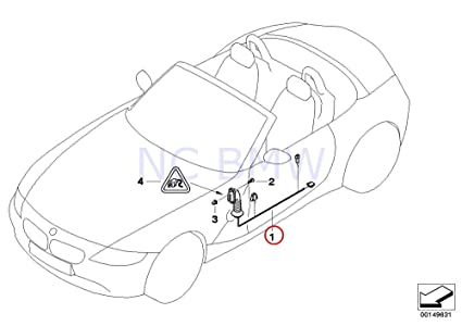 Amazon Com Bmw Genuine Co Drivers Side Door Cable Harness Automotive