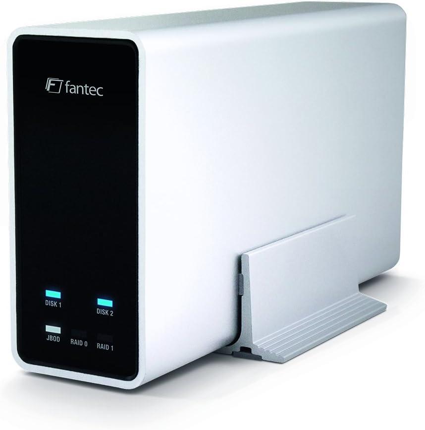 Fantec Mobiraid X2 2x1tb Externe Festplatte Raid 0 1 Computer Zubehör