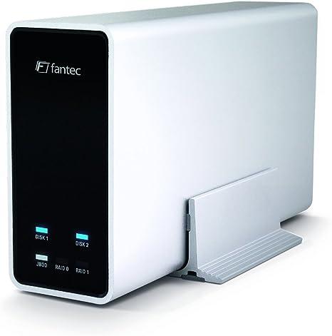 Fantec MobiRAID X2 - Carcasa para Disco Duro SSD 2.5